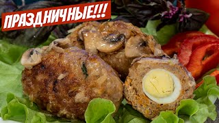 Котлеты в духовке с подливкой с сыром и грибным соусом Простой рецепт
