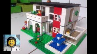 LEGO - Como Construir uma Casa Média de Lego 9