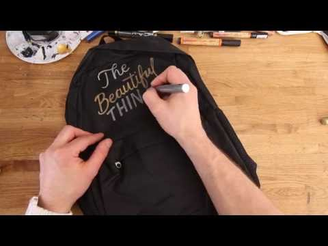 Writing on a Backpack with Gold & Silver markers | Letter Everything #02
