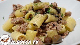 552 -  Pasta salsiccia e olive..ci riempirei le stive! (primo di terra facile e sfizioso e goloso)