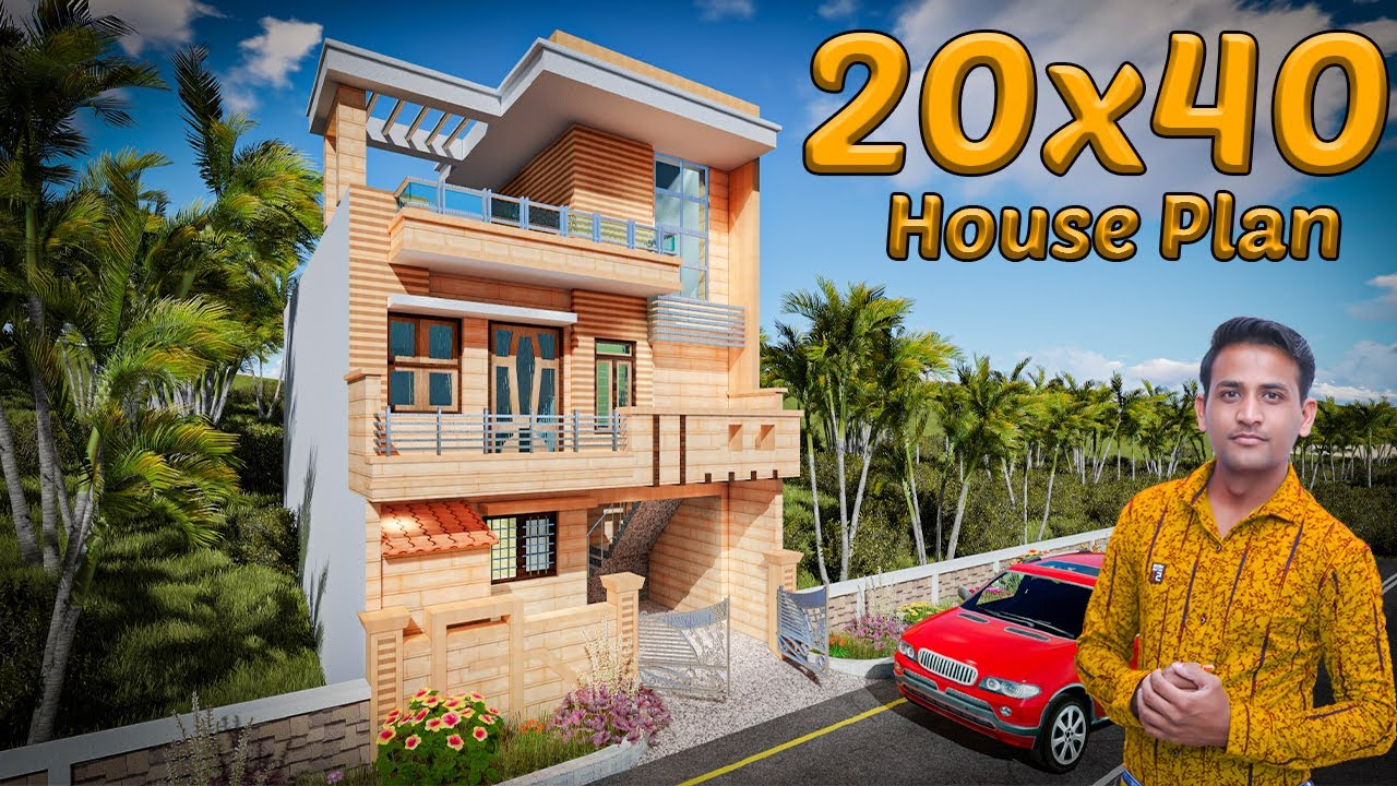 20*40 house plan with interior & Elevation | 800 sq ft | 3 ...