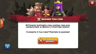 AGGIORNAMENTO Clash Of Clans! CLAN WAR & Castello Del Clans LV 6!