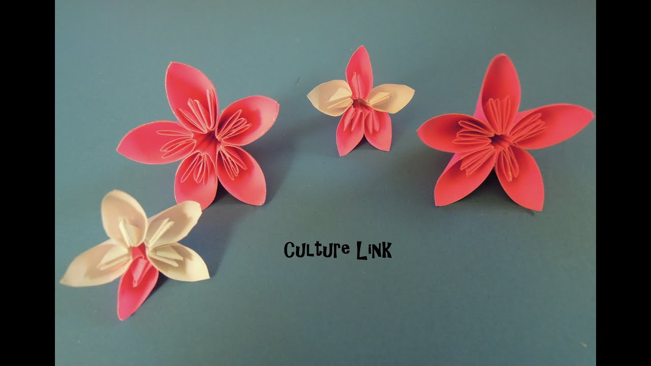 How To Make Japanese Kanzashi Decorative Paper Flower Youtube