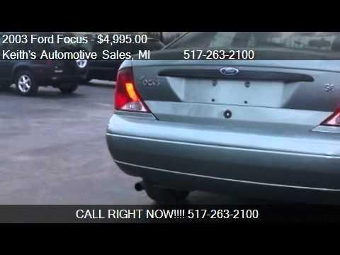 2003 Ford Focus SE Comfort w/ Zetec - for sale in Adrian, MI