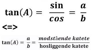 Trigonometri: cos sin tan cot