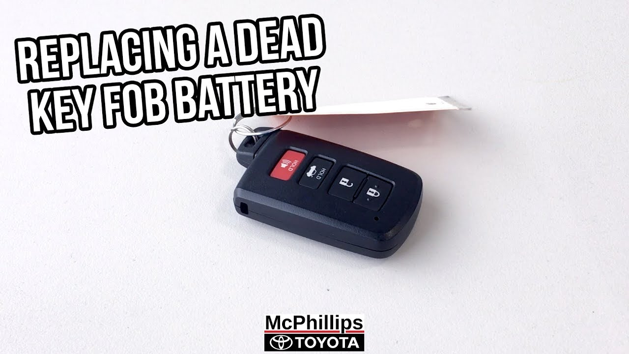 How To Replace Your Toyota Key Fob Battery