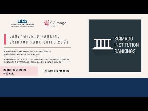 Lanzamiento Ranking Scimago 2021 para Chile