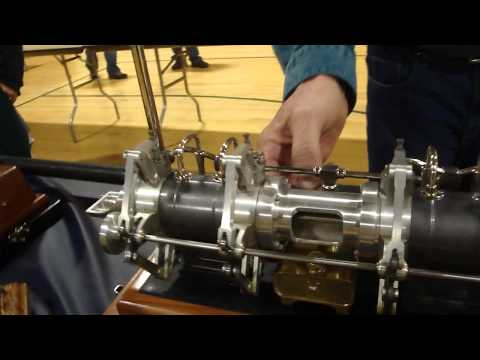 Snow Tandem Double Acting Gas Engine Model by Joe Higgins