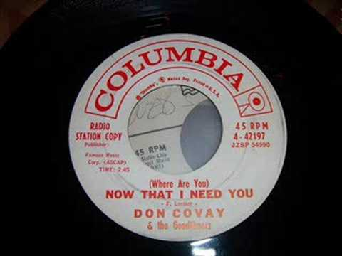 Rare Doo Wop Ballad - Don Covay & Goodtimers - Where Are You
