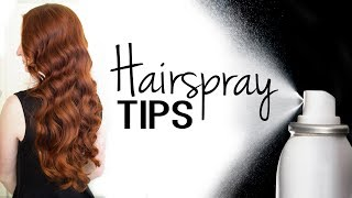 Tips & Tricks for Using Hairspray More Effectively
