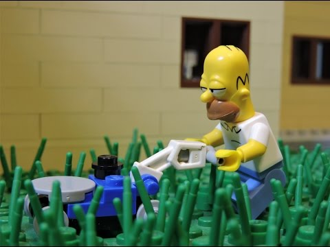 """Homer's garden problems"" Lego Simpsons animation"