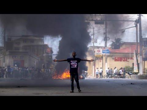 Haitians protest Moise's