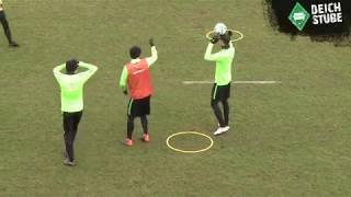 Werder-Profis haben Spaß an kurioser Trainings-Einheit
