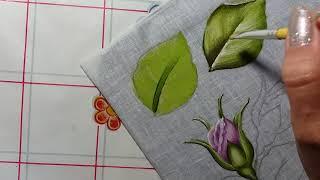 Folhas – Parte 1 – Pintura em tecido
