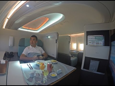 Thumbnail: Korean Air B747-8 First Class Review Hong Kong to Incheon