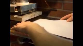 видео тиснение фольгой