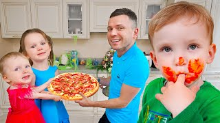 Five Kids Cooking Pizza with Baby Alex + more Funny Songs and Videos