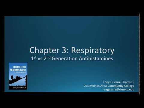 (CC) 1st Vs 2nd Generation Antihistamines (CH 3 RESPIRATORY NAPLEX / NCLEX PHARMACOLOGY REVIEW)