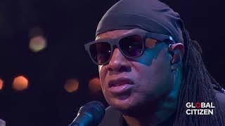 """Stevie Wonder """"Signed Sealed Delivered"""" Global Citizen New York 2017"""