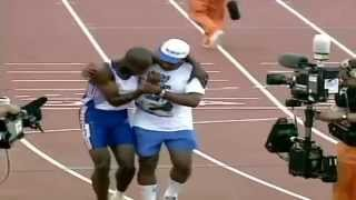 Inspirational Olympic moment- Father and son finish the race together-(Derek and dad finish Olympic 400 together The day of the race arrives. Father and son reminisce about what it took for Derek to get to this point. They talk about ..., 2014-05-15T08:59:27.000Z)