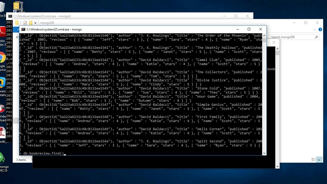 import json file in mongodb