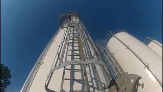 Climbing a 60 foot silo