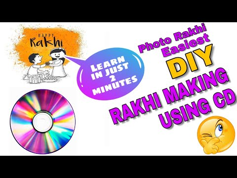 Rakhi Making out of CD | School Competition Special Rakhi Making Idea /Best Out Of Waste Rakhi