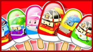 Мультик. Робокар Поли. Учим цвета. Мороженое. Learn Colors. Robocar Poli.