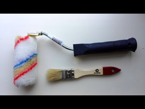 Кисть и валик для покраски