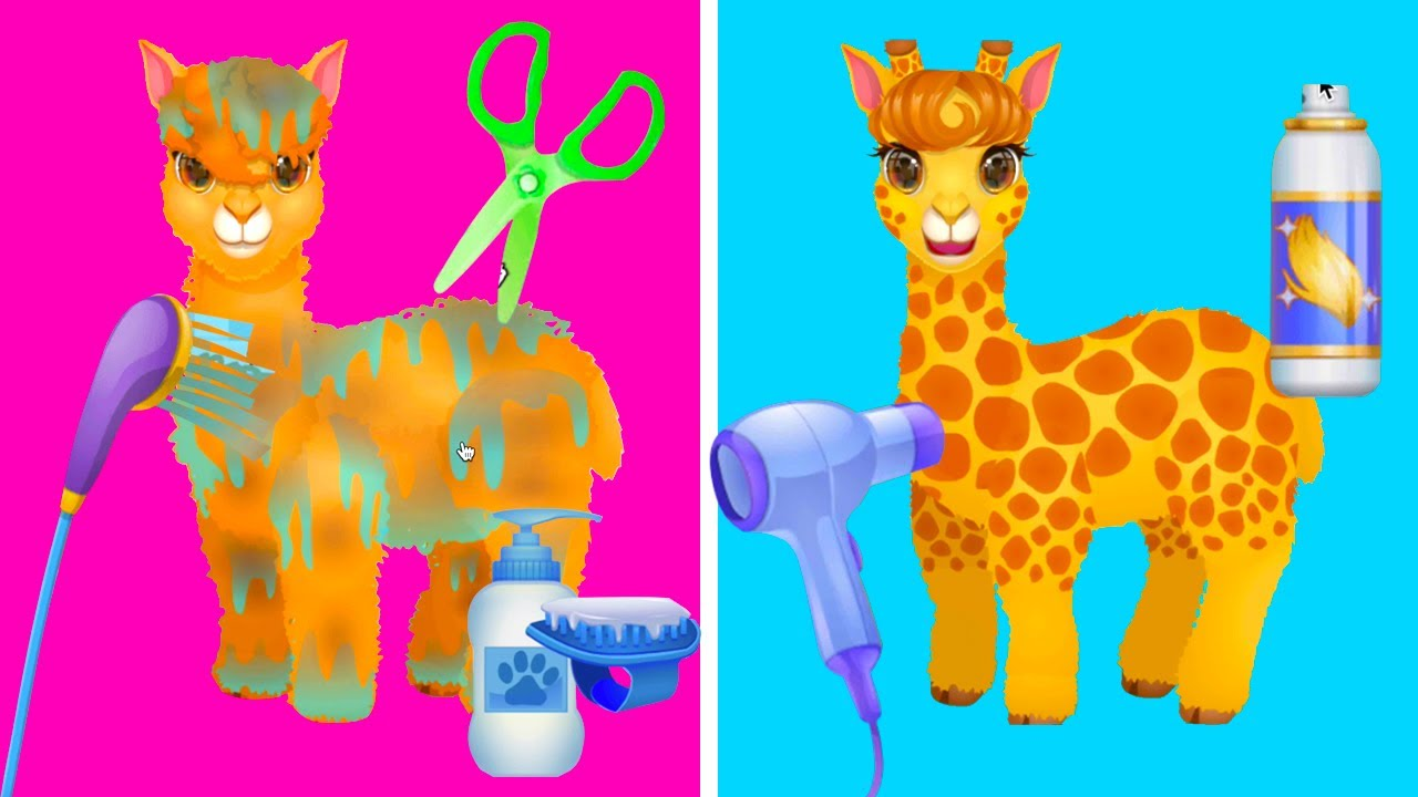 Funny Pet Haircut - Juegos Infantiles - Juegos para Niñas Pequeñas