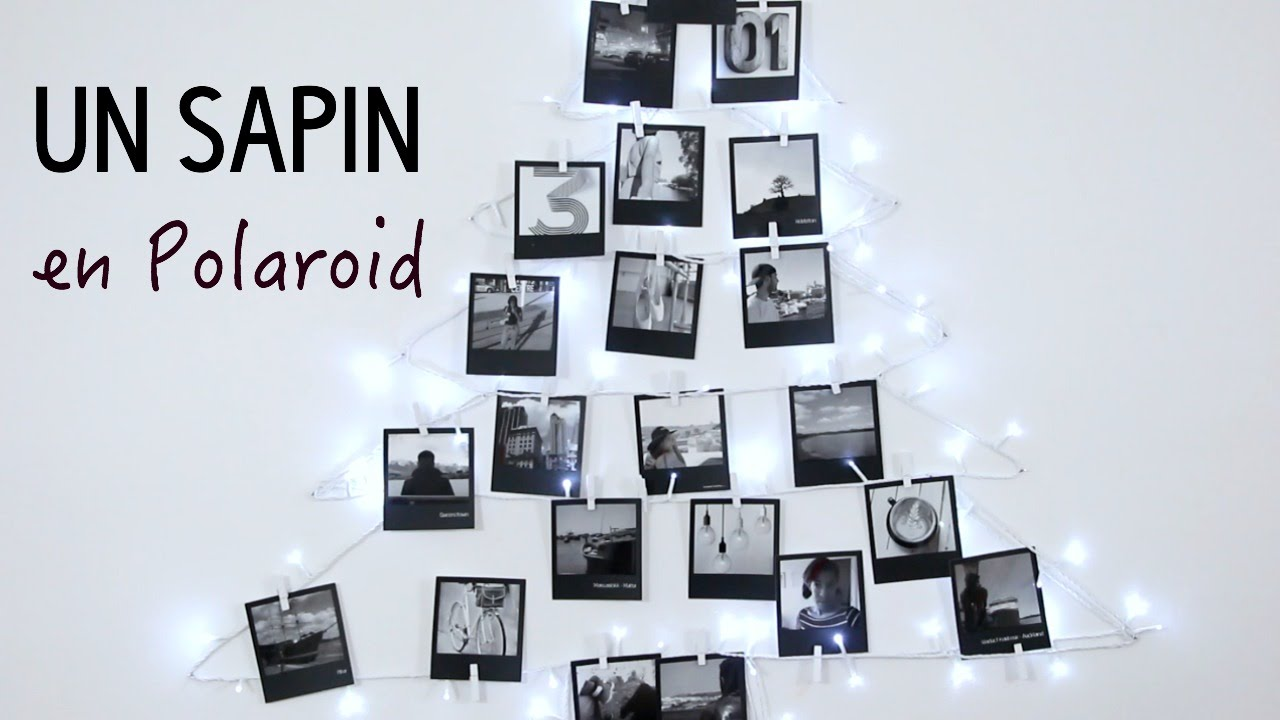 diy comment faire un sapin original avec des polaroid. Black Bedroom Furniture Sets. Home Design Ideas