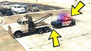 GTA 5 - OTO ÇEKICI ILE POLIS ARABASINI KAÇIRIRSAK NE OLUR?