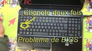 Comment  réparer un probleme de bios sur un PC Hp qui ne démarre plus.