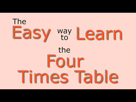 4 Times Table Easy Way To Learn The 4 Times Table