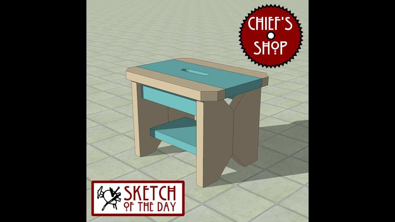 Chief\'s Shop Sketch of the Day: Kitchen Stool - YouTube