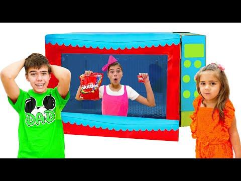 Nastya e a microfloor mágica história engraçada para crianças