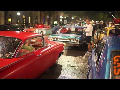 Sweden, Stockholm, classic cars @ Sveavägen - PRIDE 2017