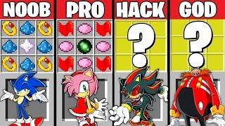 Minecraft Battle: SONIC CRAFTING CHALLENGE ~ NOOB vs PRO vs HACKER vs GOD - SONIC EXE Animation
