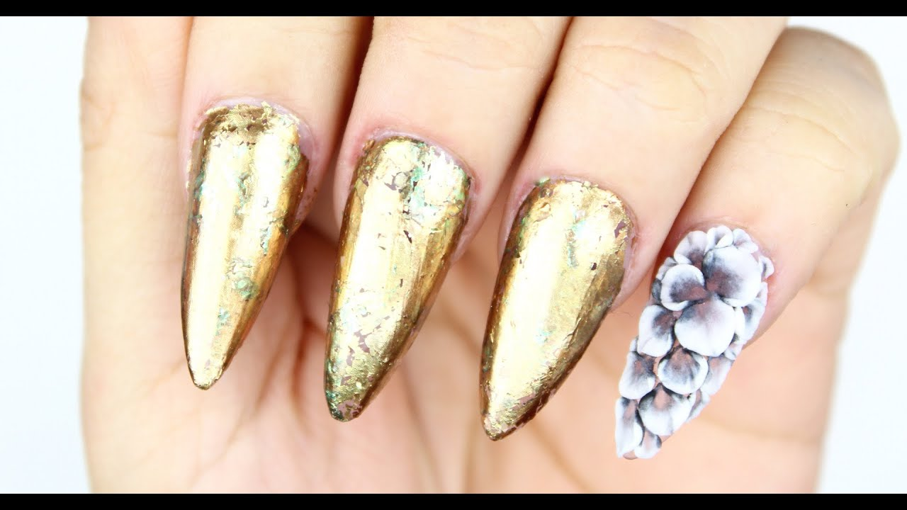 TUTORIAL: Uñas Metalicas con 3D ♥ - YouTube
