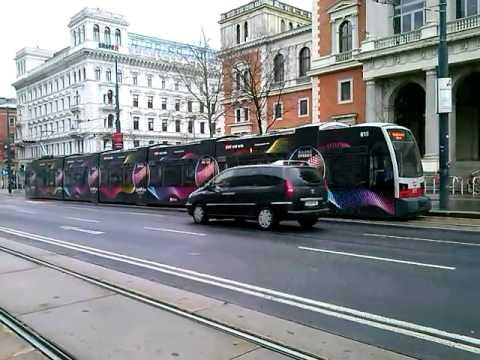 Straßenbahn Linie D Börse in Wien