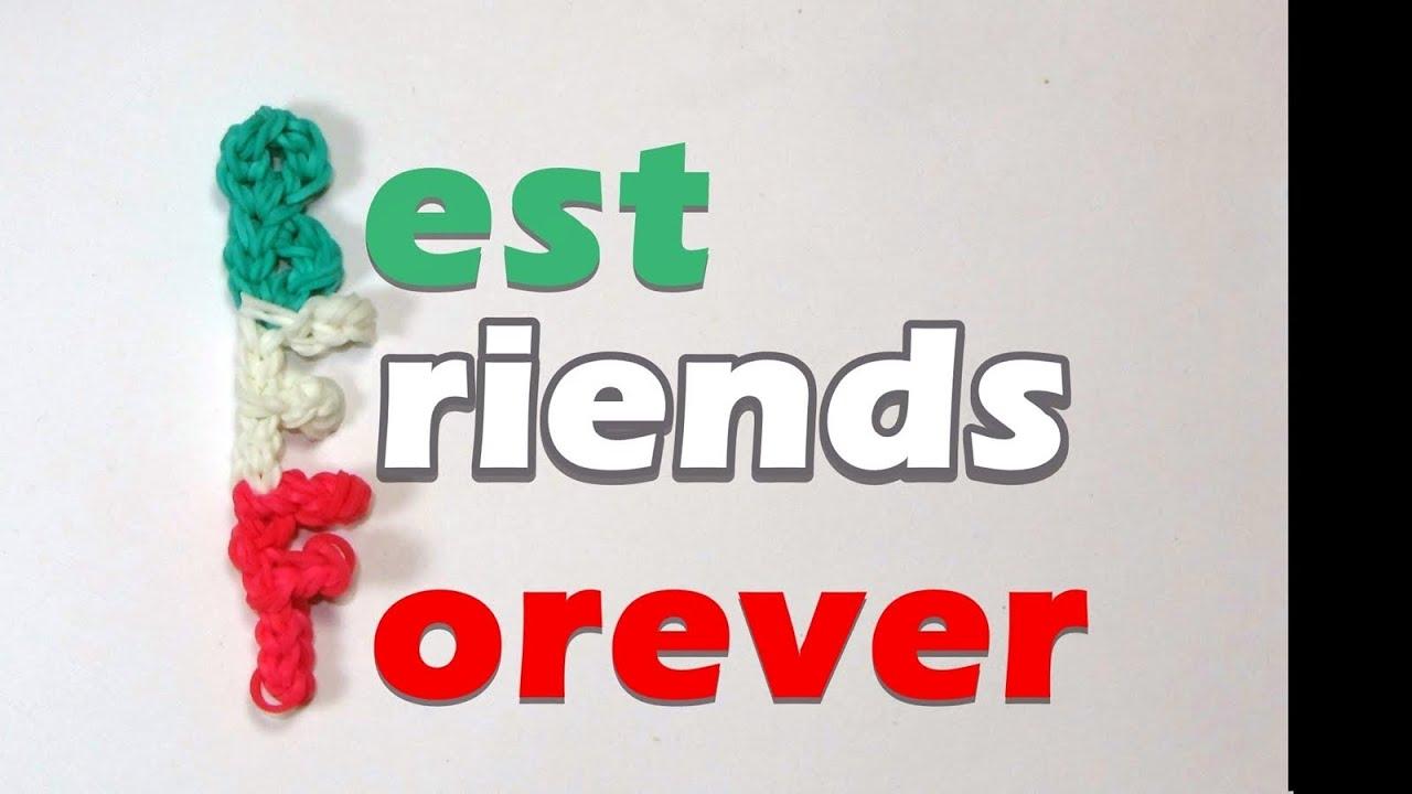 rainbow loom bff best friends forever charm friendship youtube