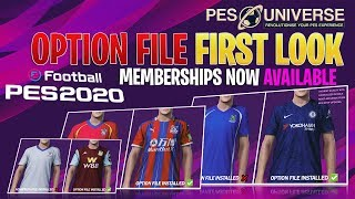[TTB] PES 2020 Option File First Look - PES Universe Memberships Available Now for Day 1 Launch!