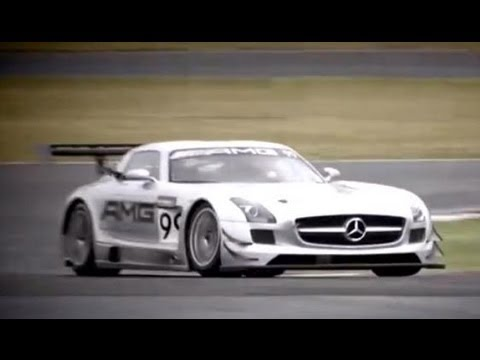 SLS AMG GT3 Racecar Warm-Up with Tommy Kendall -- Clip 1