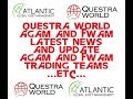 QUESTRA WORLD AGAM AND FWAM LATEST NEWS AND UPDATES   TRADERS TEAM EXCHANGE AND ETC MARCH 2019