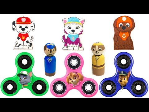 Thumbnail: Paw Patrol FIDGET SPINNERS Save Pups from Boxes Children Learn Colors Fizzy Fun Toys