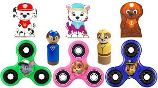 Paw Patrol FIDGET SPINNERS Save Pups from Boxes Children Learn Colors Fizzy Fun Toys