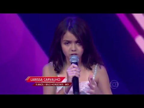Larissa Carvalho canta 'Almost is Never Enough' no The Voice Kids - Audições|1ª Temporada