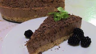 Шоколадный чизкейк без выпечки. Cheesecake.