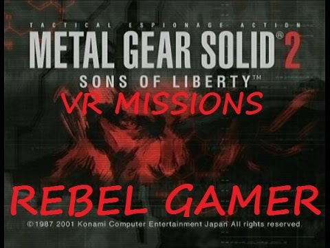 MGS2 HD - VR Missions - Tuxedo Snake - Elimination Mode All Levels 1-10 - XBOX 360 (HD)