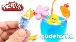 DIY Gudetama Seaside Kitchen Tropical Juice ! Playdoh + Slime | MonsterKids